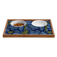 Heather Dutton Leaflet Marine Pet Bowl and Tray