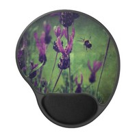 Lavender and Bee Gel Mousepad