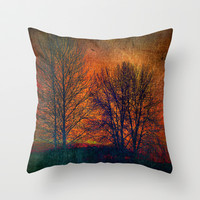 silhouettes Throw Pillow by Sylvia Cook Photography