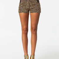 Golden Sequin Shorts