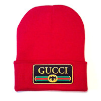 QUEENS — Gucci Beanie - Red