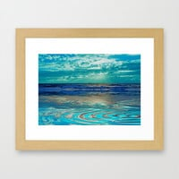FANTA-SEA IN BLUE Framed Art Print by catspaws