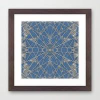 Snowflake Blue Framed Art Print by Project M
