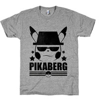 Pikaberg, Heisenberg, Breaking Bad, Nerd, Shirts, Tops, Pikachu, Pokemon, Funny, Gaming, Geek, Anime,