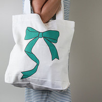 Bows Bows Bows - Screen printed - 100% cotton tote bag - Everyday bag