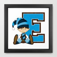 Little Christmas Elf Framed Art Print by markmurphycreative