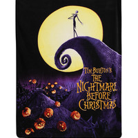 The Nightmare Before Christmas Movie Micro Raschel Throw
