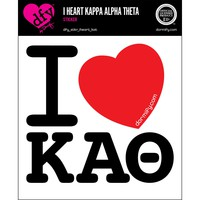 I Heart Kappa Alpha Theta Sticker