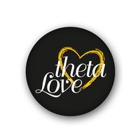 Kappa Alpha Theta Sorority Spirit Button - Theta Love