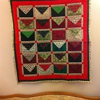 Handmade Quilted Christmas Countdown Wall Hanging Design #4