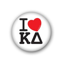 I Heart Kappa Delta Spirit Button
