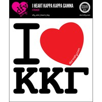 I Heart Kappa Kappa Gamma Sticker