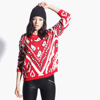 Women's Street Smart Knitted Jumper (Multi)