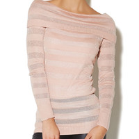 Mesh-Stripe Sweater | Arden B.
