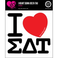 I Heart Sigma Delta Tau Sticker