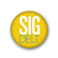 Sigma Delta Tau Sorority Spirit Button - Big Sig