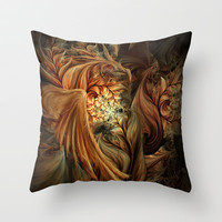 Phoenix Throw Pillow by SensualPatterns