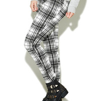 Black & White Plaid Skinny Pant | Wet Seal
