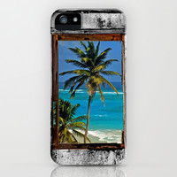 WINDOW ON PARADISE iPhone & iPod Case by catspaws