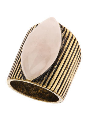 Semi Precious Etched Band Ring - Rings - Jewellery - Accessories - Topshop USA