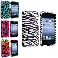 Walmart: INSTEN 4x Colorful Zebra Hard Case Cover Accessory Bundle For iPod Touch 4 4G 4th Gen