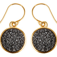 Black Drusy EarringsJANNA CONNER