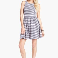 Frenchi® Knit Racerback Skater Dress (Juniors) | Nordstrom