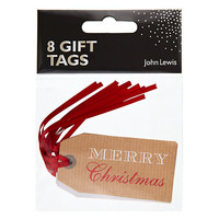 Buy John Lewis Merry Christmas Gift Tags, Pack of 8 online at John Lewis