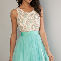 Short Sleeveless Sequin Embellished Dress