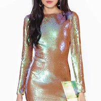 Dress The Population Lola Sequin Dress - Iridescent