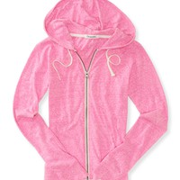 Heathered Lightweight Full-Zip Hoodie -
