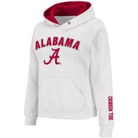 NCAA Alabama Crimson Tide Women's Arch Logo Pullover Hoodie - White (Large)