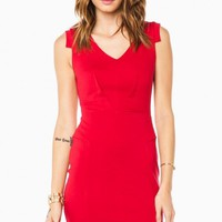 JENICA DRESS IN RED