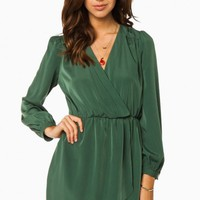 CECELIA WRAP DRESS IN OLIVE
