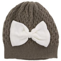 Women's Large Bow Beanie