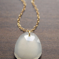 Vanilla Moonstone Gold Necklace