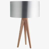 TRIPOD NATURAL Wood Ash table lamp base - HabitatUK