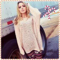 Sugarland Pink Oversized Sweater