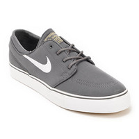 Nike SB Zoom Stefan Janoski Grey, White & Brown Canvas Skate Shoe