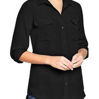 Women's Chiffon Button-Up Blouses