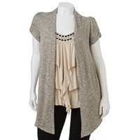 HeartSoul Mock-Layer Studded Top - Juniors' Plus