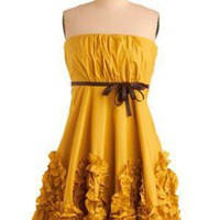 Yellow, Gorgeous! Dress | Mod Retro Vintage Printed Dresses | ModCloth.com