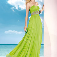 Alyce 2014 Lime Strapless Sweetheart Beaded Long Prom Dress 35590 | Promgirl.net