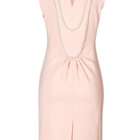 Moschino - Sheath Dress with Pearl Collar