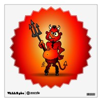 Fat red devil room decals