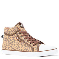 The Linden Giraffe Sneaker in Giraffe & White