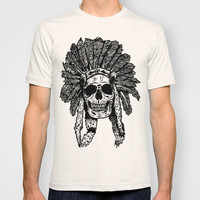 Chief Skull T-shirt by Mike Thompson | Design + Illustration