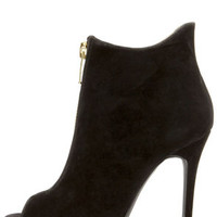 Dollhouse Strive Black Suede High Heel Booties