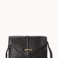 Iconic Faux Crocodile Crossbody