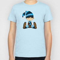 Cute Christmas Elf Pattern Kids T-Shirt by markmurphycreative